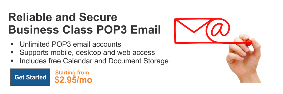 Reliable and Secure Business Class IMAP/POP3 Email